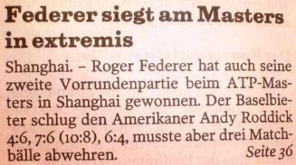 Federer in extremis