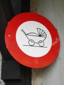 Fahrverbot für Kinderwagen